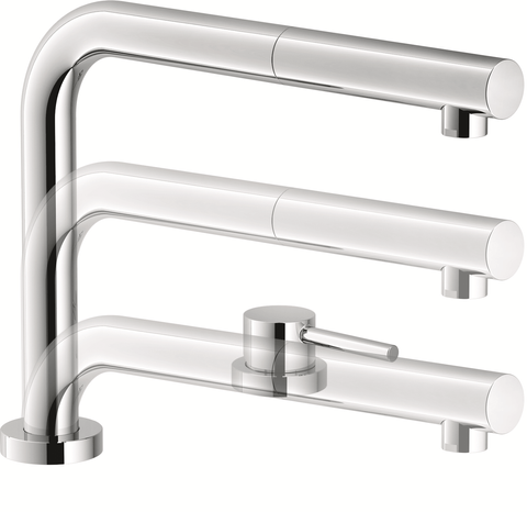 Franke-Partner.com.ua ➦  Кухонний змішувач Franke Active Window Pull Out, з виносним шлангом (115.0486.978) Хром
